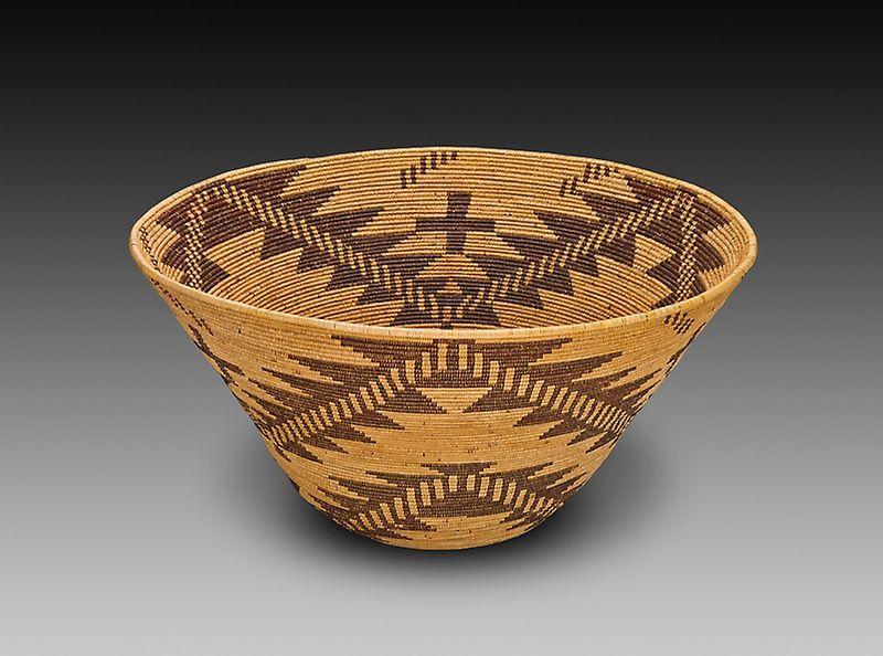 Feasting or storage basket native american baskets art