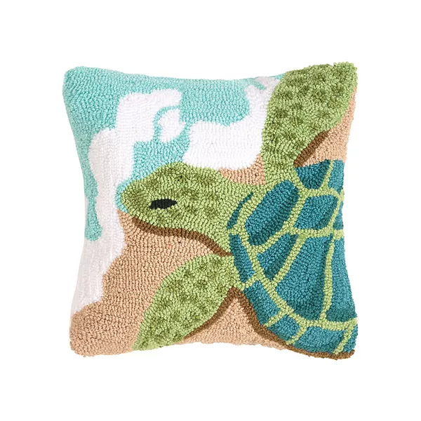 Turtle Waves Throw Pillow