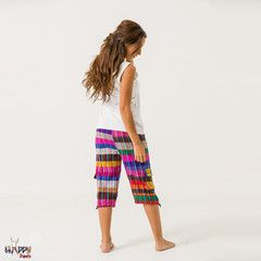 Multicolour Three Quarter Happy Pants