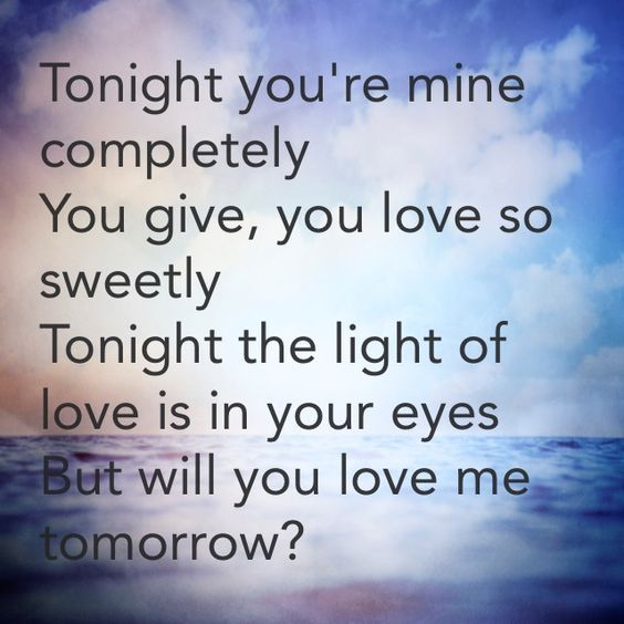 Will You Still Love Me Tomorrow Carole King Great Song Lyrics