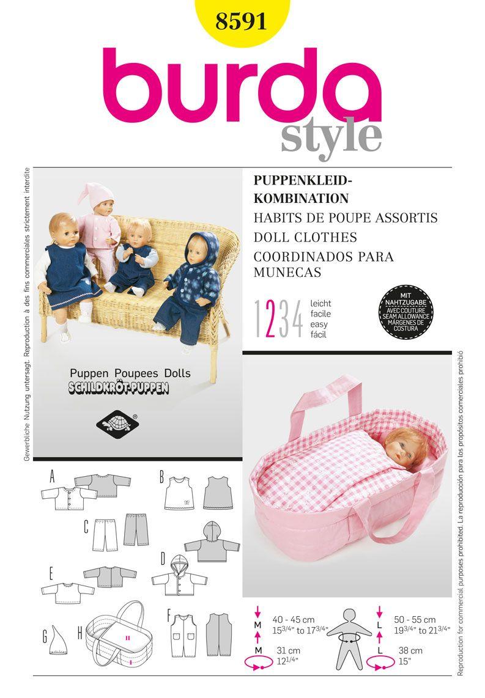 Simplicity Creative Group - Burda Style, Doll Clothes B8591 (DOLL ...