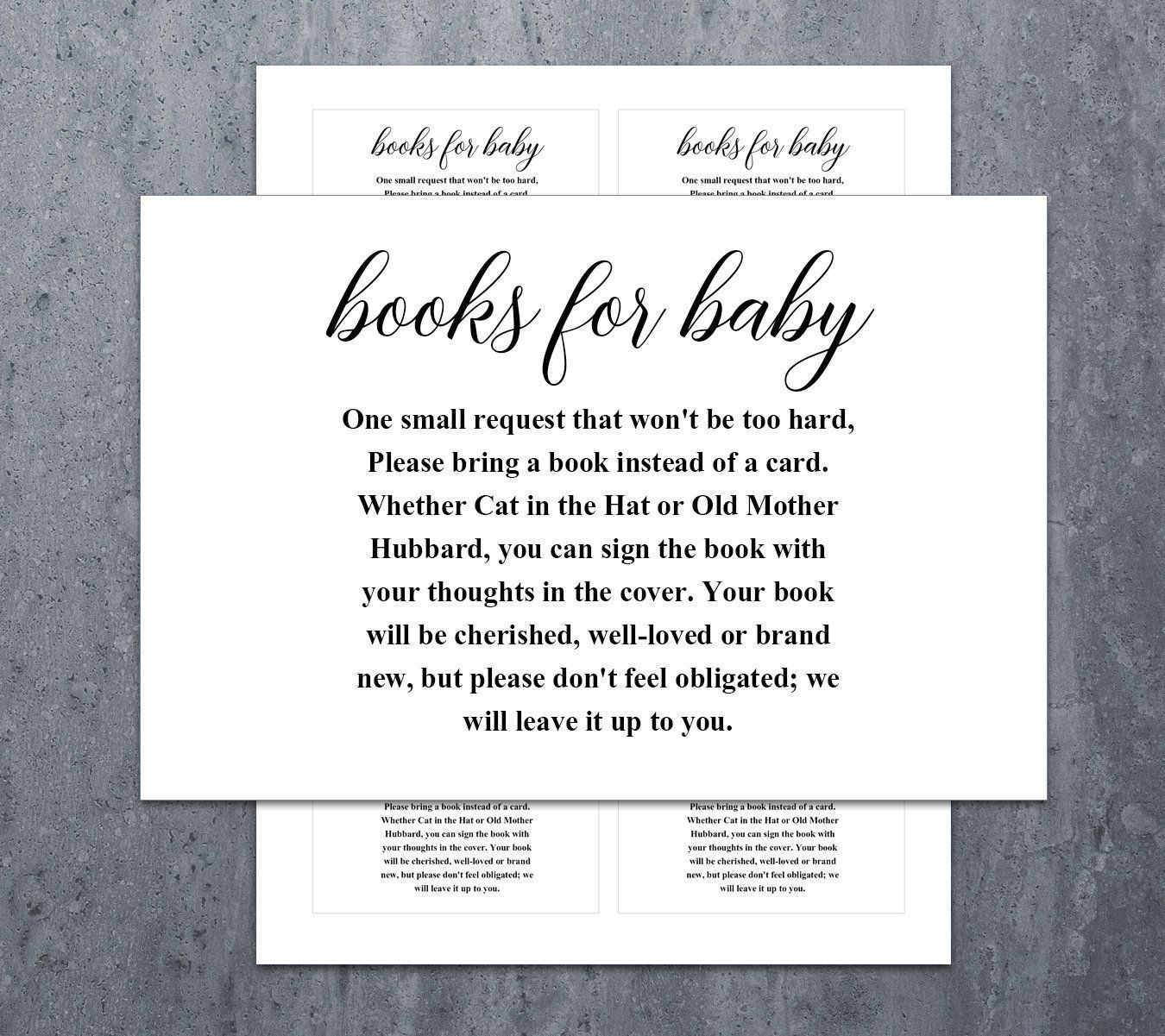 Baby Shower Bring A Book Instead Of A Card Book Request Baby Etsy Printable Baby Shower Invitations Baby Shower Invitations For Boys Baby Shower Book