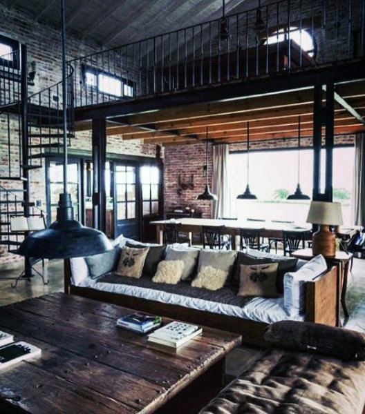Industrial Living Room Design Top 19 Coolest Male Living Space Design Ideas For Inspiration