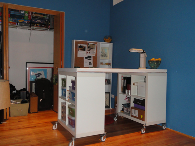 diy craft table ikea hack atelier couture mobilier de salon atelier et ikea. Black Bedroom Furniture Sets. Home Design Ideas