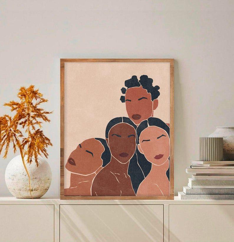 Black Girl Wall Art Girl Power Print African American Art Etsy In 2021 African American Art Girl Power Art Girls Wall Art
