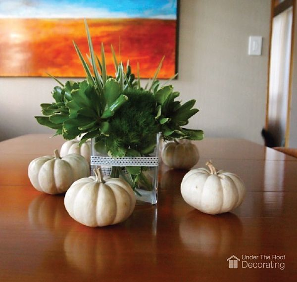 Fall décor - quick ways to decorate with pumpkins (no carving - ways to decorate for halloween