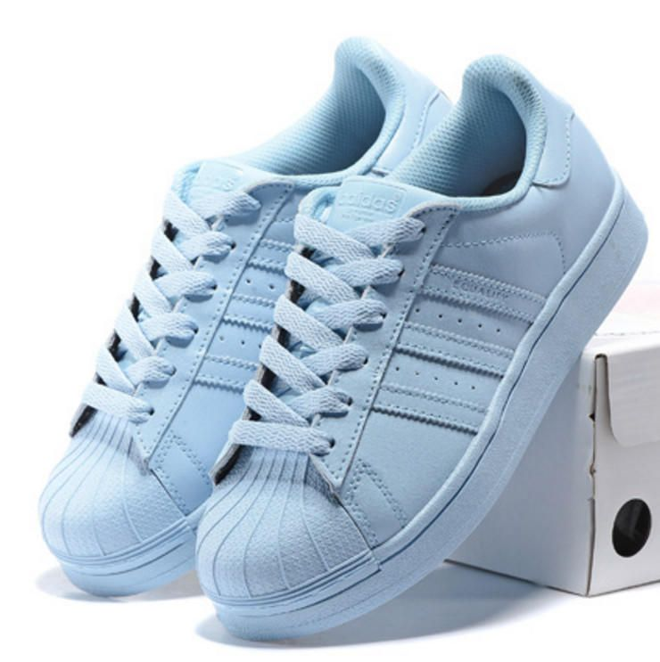 """Adidas"" Fashion Shelltoe Flats Sneakers Sport Shoes Pure"