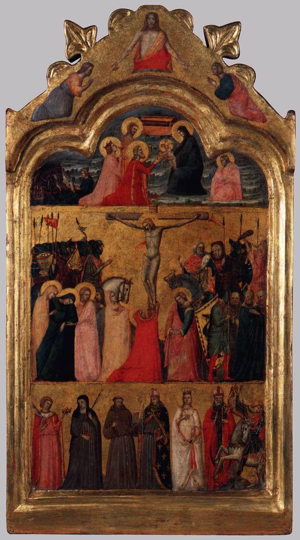 Giovanni Baronzio (attivo 1326- 1362) - Tavola centrale di un polittico - c. 1345 - Liechtenstein Museum, Vienna