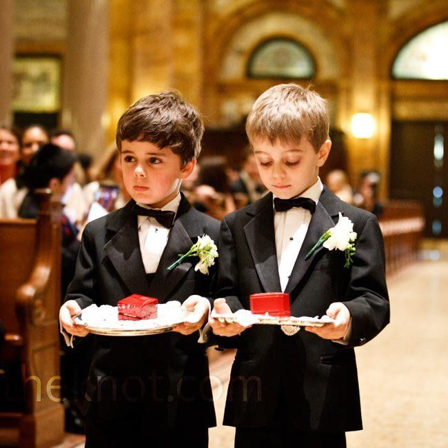 ring bearer carries rings in a box on a silver tray | Wedding Ideas ...