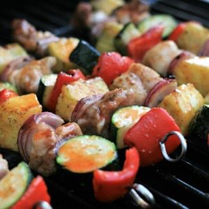Spicy Honey-Lime Chicken Thigh Kebabs