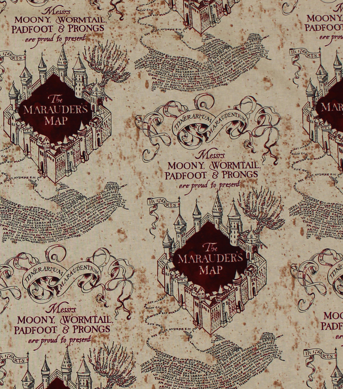 Precut 1 Yard Pieces Map of The World Cotton Fabric by The Yard