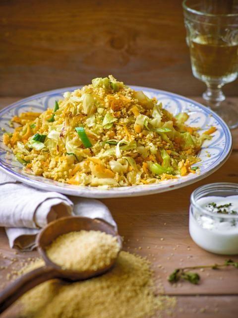 Wintercouscous mit Spitzkohl und Curry - Rezept