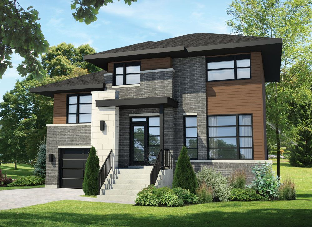 Plan 80879pm Compact Northwest House Plan In 2021 Modern Contemporary House Plans Modern Style House Plans Modern House Plans