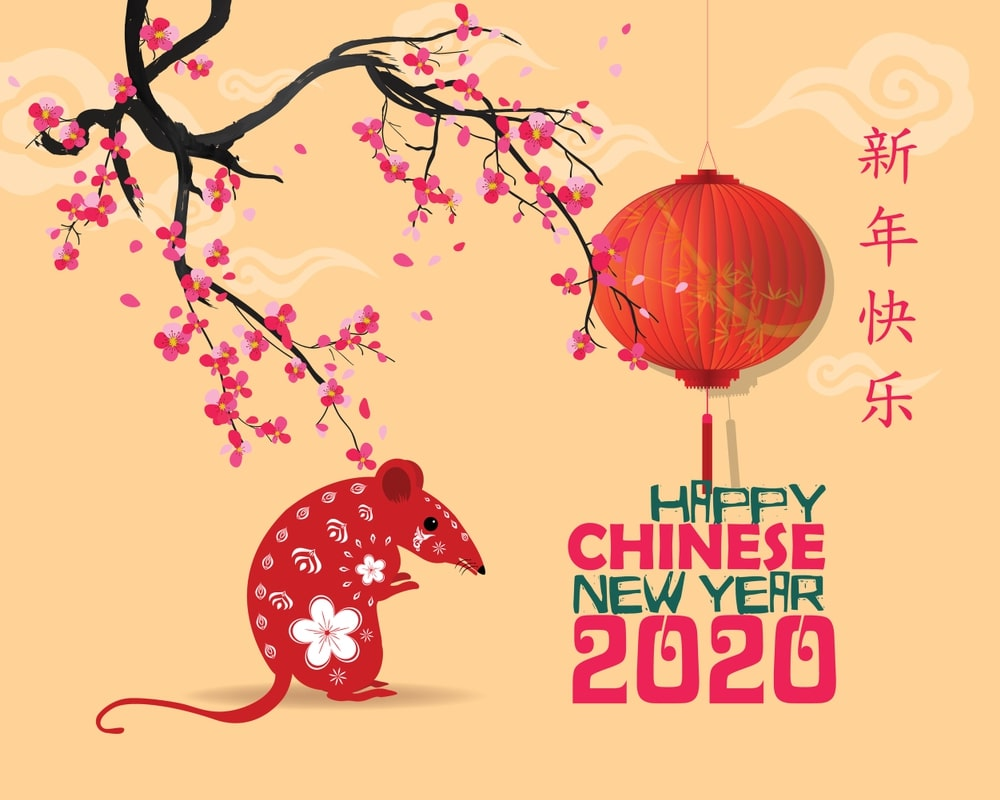 happy chinese new year 2020 zodiac sign  year of the rat