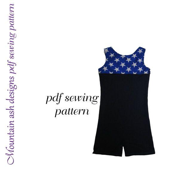 Casey Unitard sewing pattern girls sizes 2-14 biketard pdf