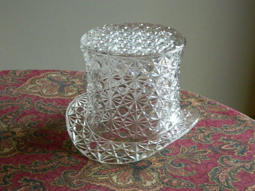 "Older Pre Logo Fenton Art Glass GIGANTIC Daisy & Button Top Hat  6""  x   8"""