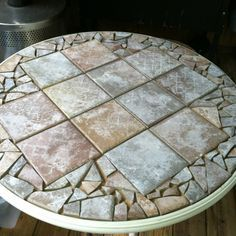 Ideas For Redoing A Round Glass Top Patio Table   Google Search