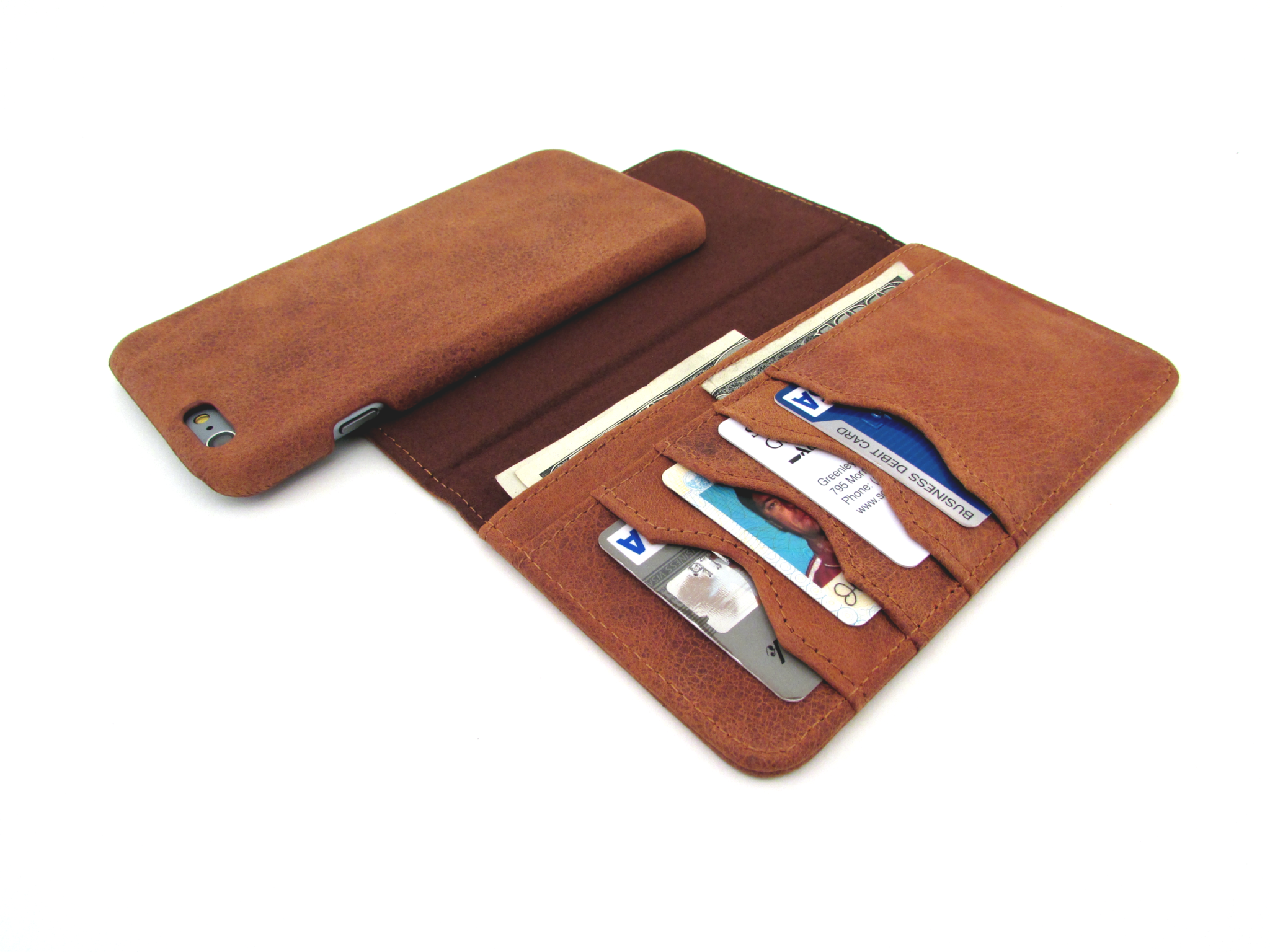 Doc Artisan Leather Wallet Combo Case for iPhone 6 Plus ...