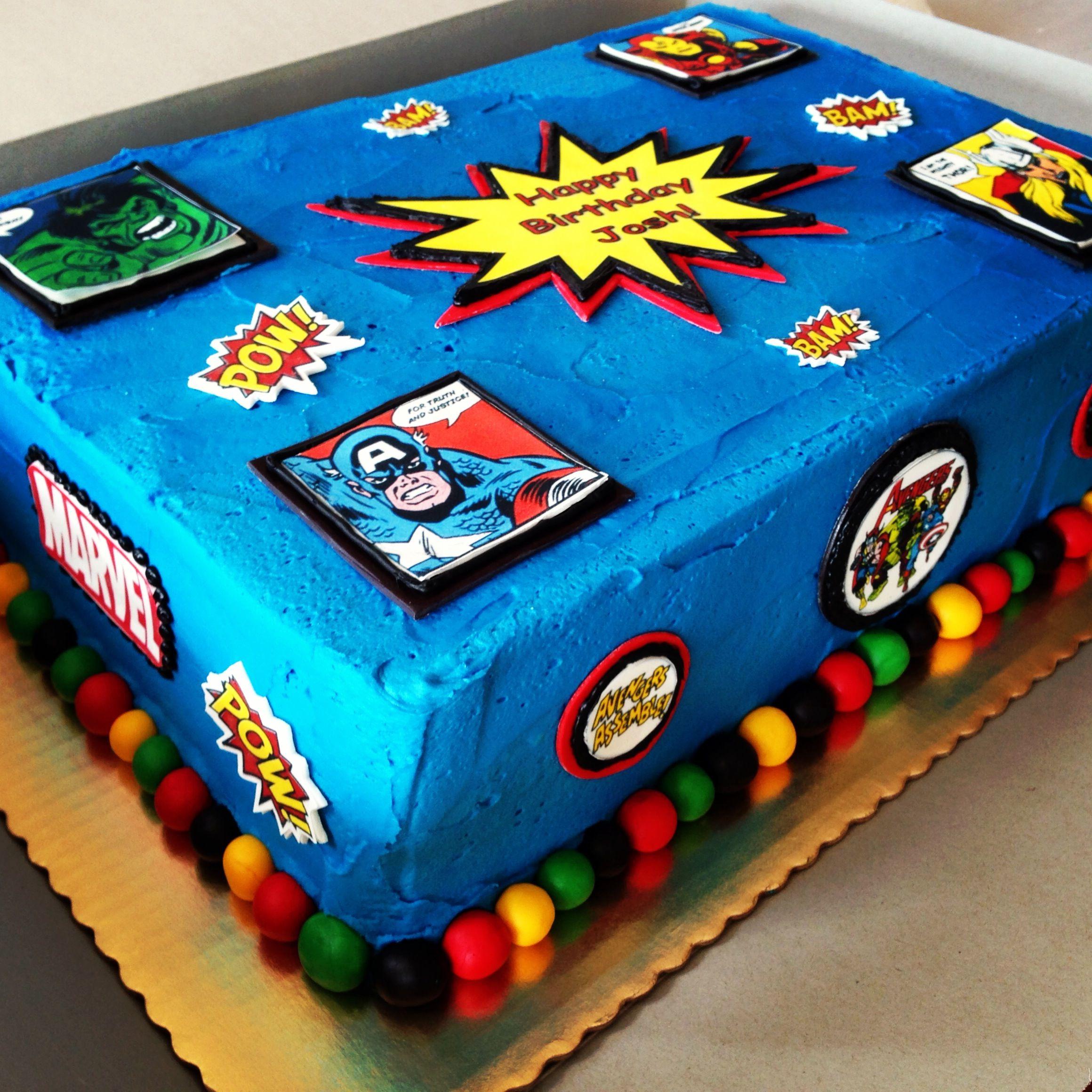 Avengers Sheet Cake Avengers sheet cake avengers Avengers