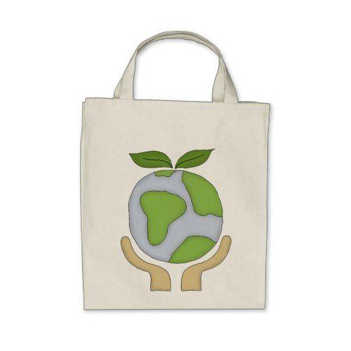 Organic Shopping Tote Go Green Environment Tote Bag Zazzle Com Eco Friendly Shopping Bags Tote Bag Shopping Tote