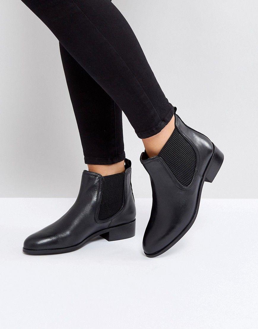 Rule London Leather Flat Chelsea Boot