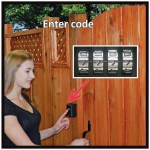 Yard Lock Is A Keyless Wood Gate Lock Kit That Will Lock And