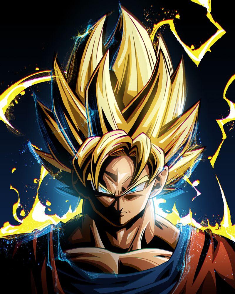 Dragon Ball Goku Poster By Nikita Abakumov Displate Anime Dragon Ball Super Dragon Ball Super Wallpapers Dragon Ball Goku