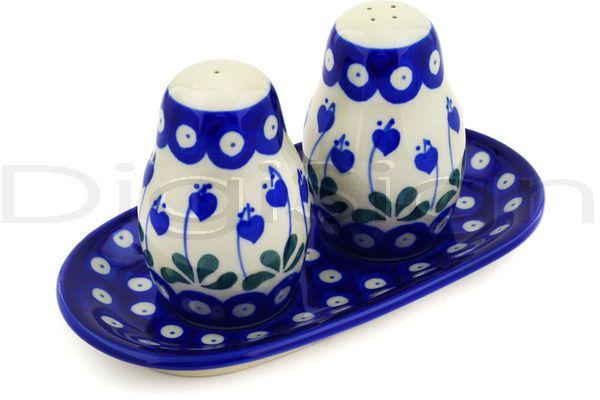 Polish Pottery Boleslawiec Stoneware Salt And Pepper Set 131 Ceramika .