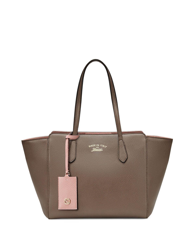 a67a054e2bd14 Gucci Swing Leather Tote Bag