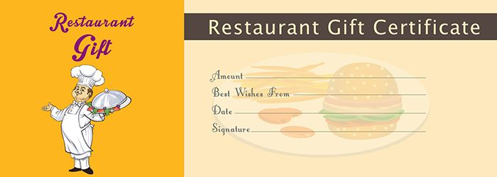 restaurant gift certificate template free gift certificate