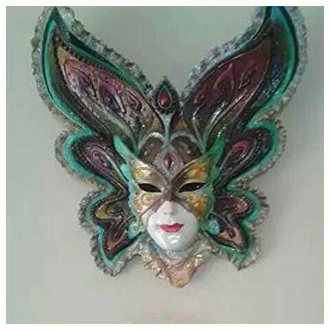 Polyester Alcidan Mask Boyama Maskeler Heykel Seramik
