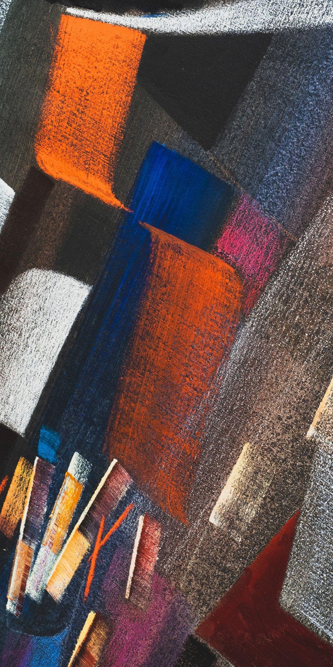 Artwork stripes, colorful, spots, 1080x2160 wallpaper