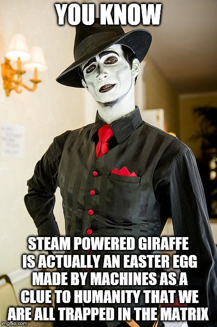 The Spine David Bennett From The Steampunk Band Steam Powered Giraffe Is A Wealth Of Knowledge And Wit Steam Powered Giraffe Giraffe Steam