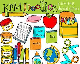 kpm school tools digital clipart graphic design and layout rh pinterest com free digital clipart for teachers Elementary Teacher Clip Art