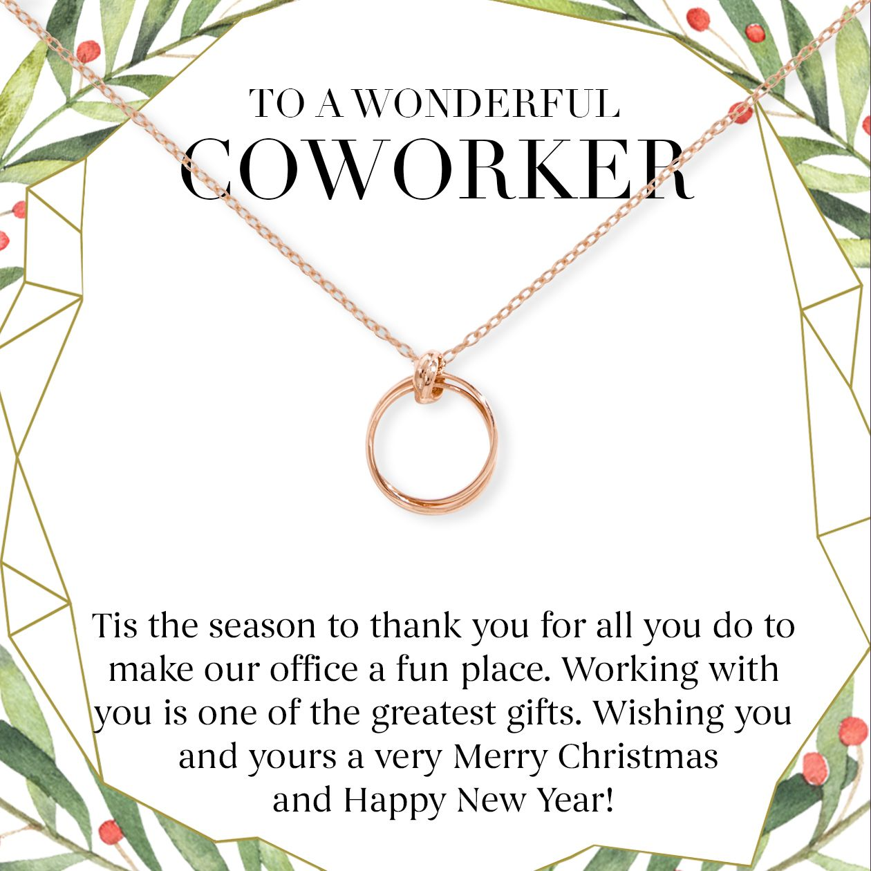 Christmas Gift for Coworker: Best Present, Necklace, Jewelry, Holiday, Gift, Office Gift Exchange