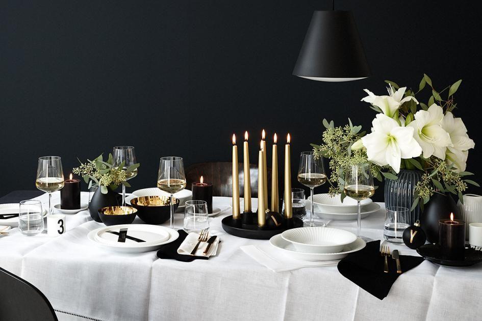 Den Tisch eindecken \u2013 stilvoll und festlich Starke Kontraste
