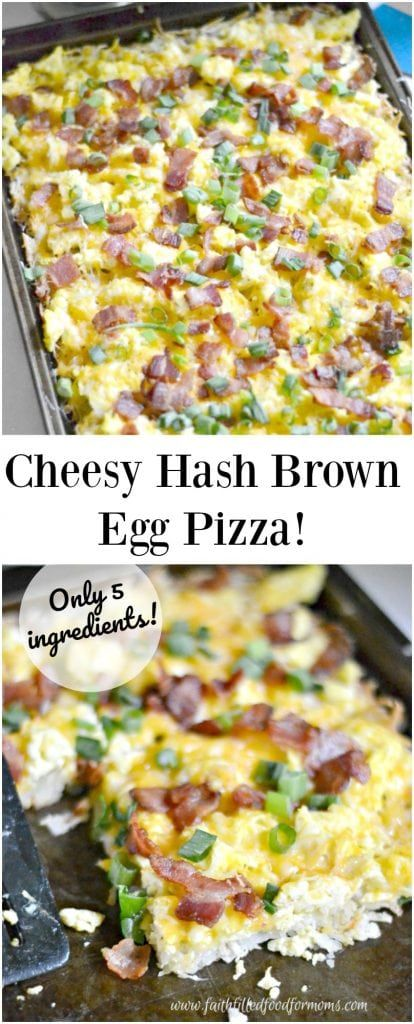 Easy Cheesy Hash Brown and Egg Breakfast Pizza Such an easy meal and so good for you Our family loves this easy breakfast pizza Serve for breakfast lunch or dinner Great...