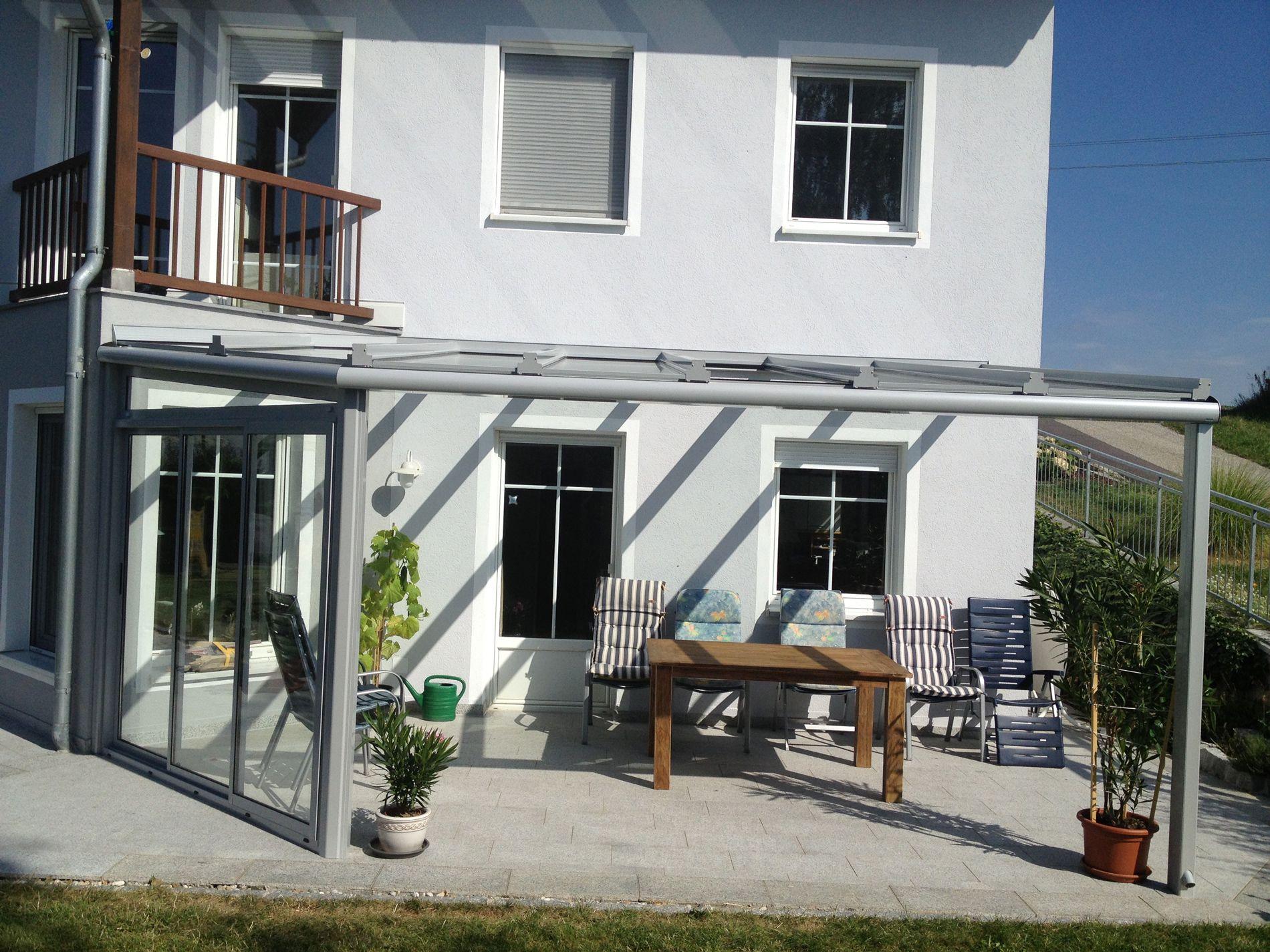 Moderne Terrassenüberdachung Alu Glas