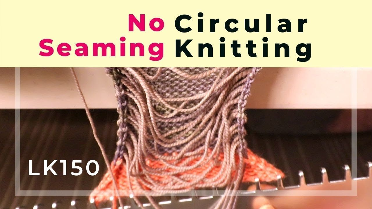 No sewing circular tube knitted on a flatbed machine