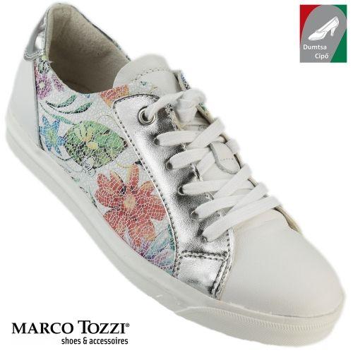 Marco Tozzi női bőr cipő 2-23613-38 189 fehér virágos kombi  5c840a6155