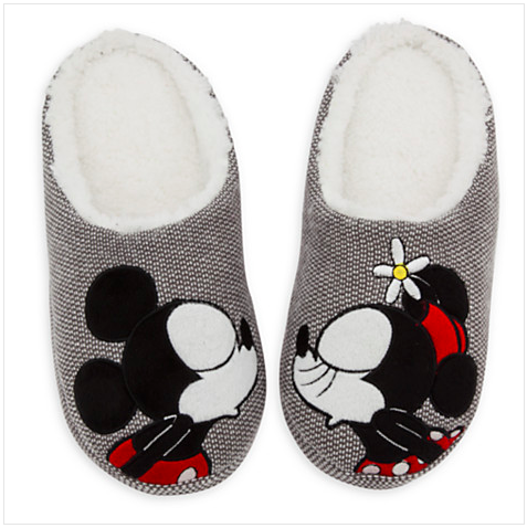 Minnie Mouse Plush Slippers for Adults