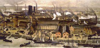 Basf In 1881 Belching Smokestacks In Ludwigshafen Germany