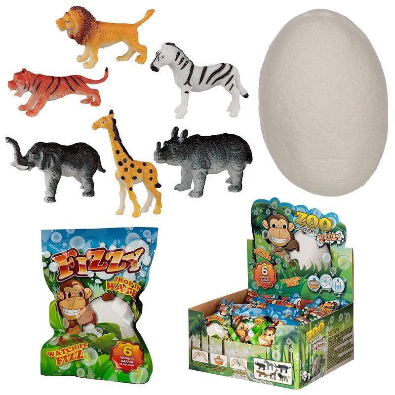 Fun Kids Fizzy Safari Animal Egg Toy | Egg toys, Safari