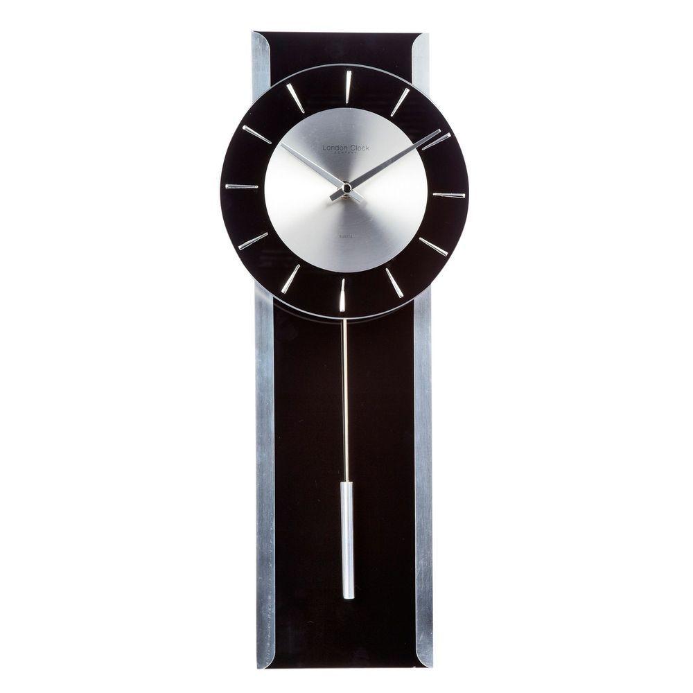 London Clock Black Glass Pendulum Wall Clock From Debenhams
