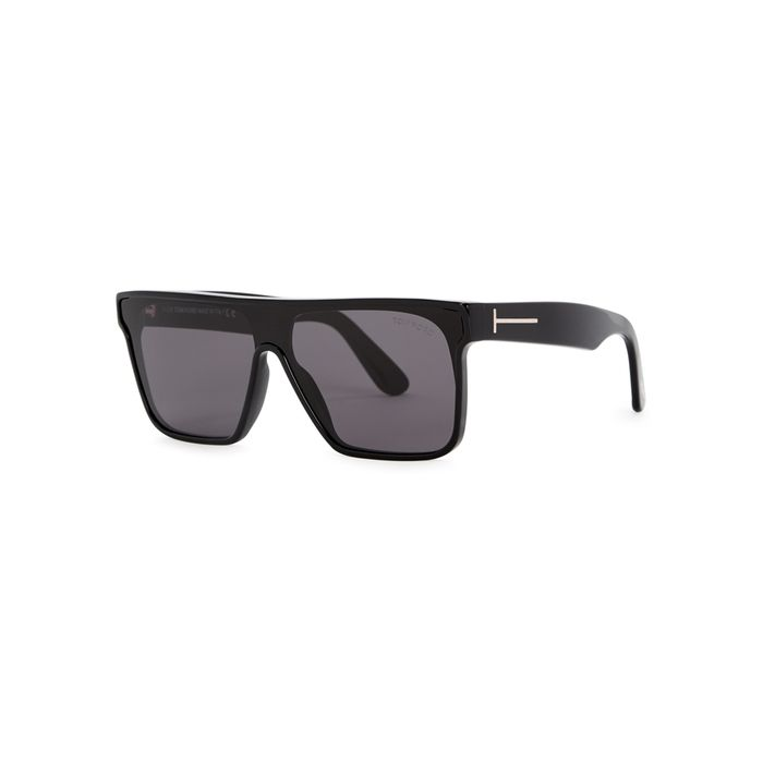 9afd9d3dc22 TOM FORD BLACK AVIATOR-STYLE SUNGLASSES.  tomford
