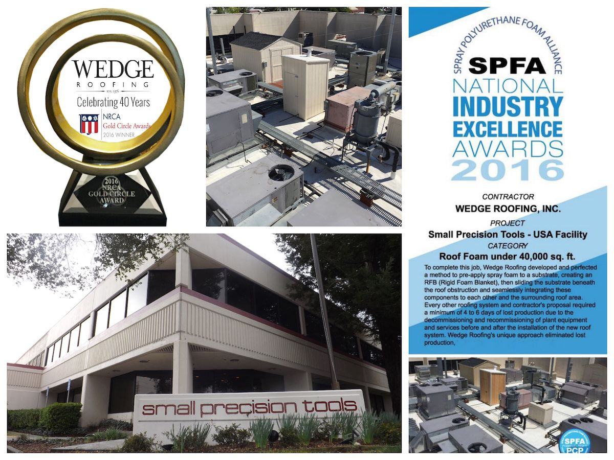 National Roofing Awards For Spray Foam Contractor San Francisco Bay Area Www Wedgeroofing