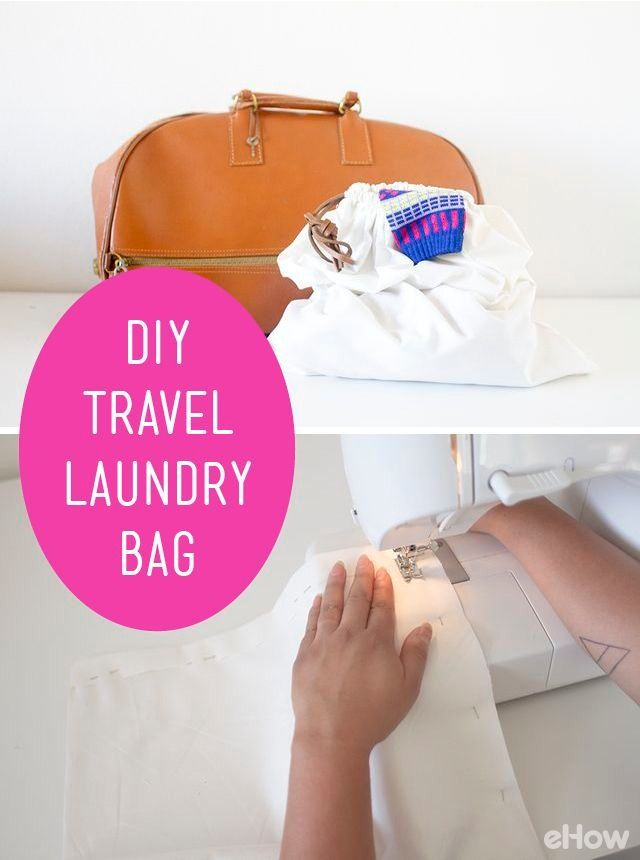 Create Your Own Convenient Travel Laundry Bag | Diy bags ...
