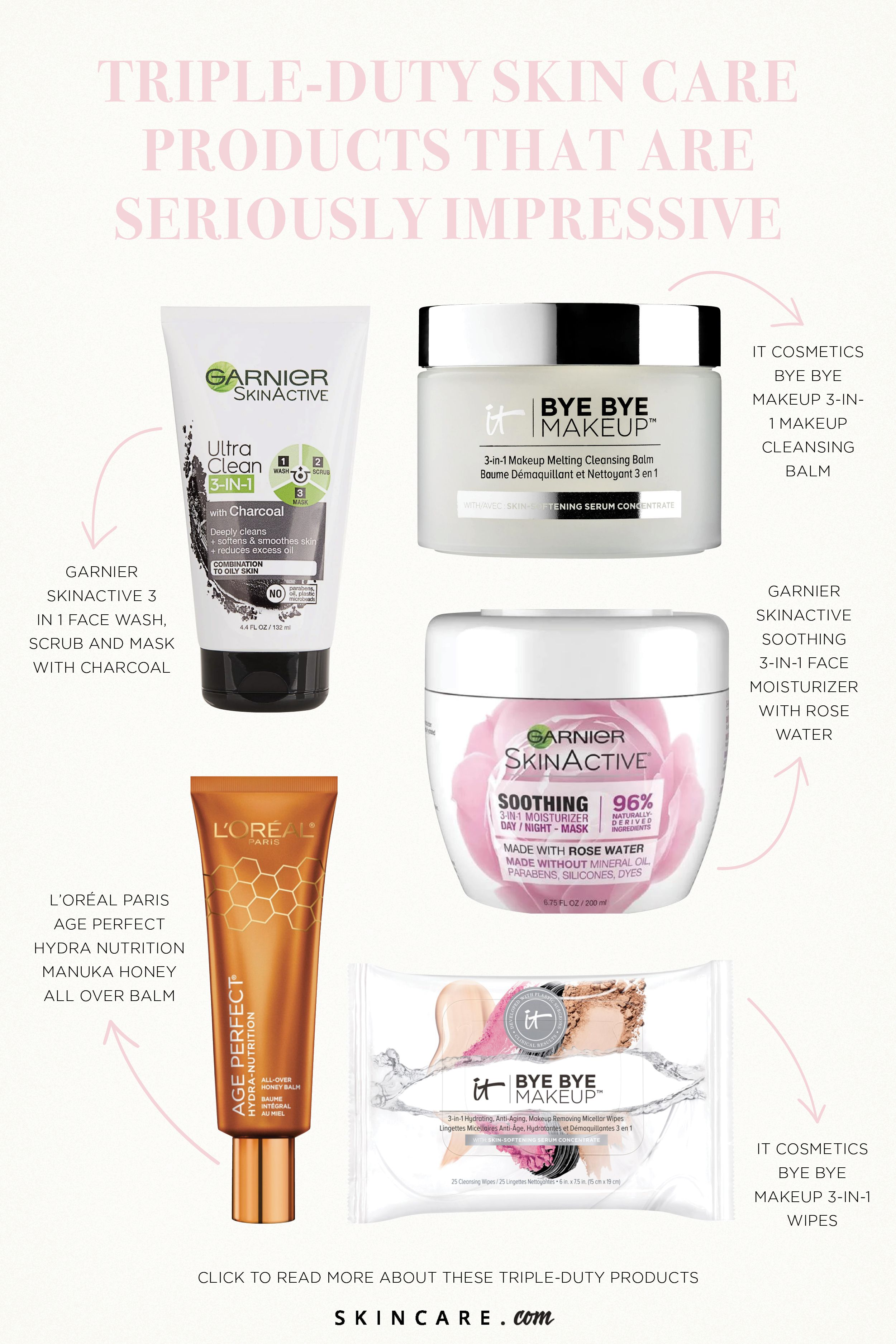 5 Triple Duty Skin Care Products That Are Seriously Impressive Skincare Com By L Oreal Skin Care Garnier Skin Active Face Moisturizer