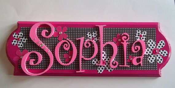 Hey, I found this really awesome Etsy listing at https://www.etsy.com/listing/100483235/custom-wooden-name-plaque-for-girls-any
