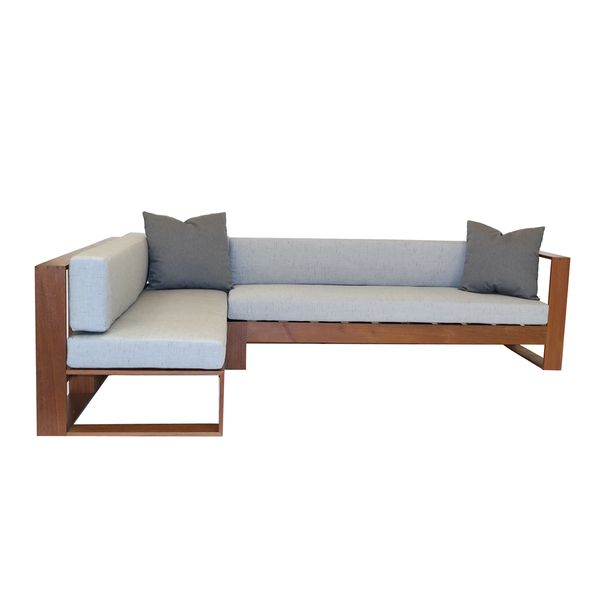 Decenni IPE Outdoor Sectional With Sunbrella Cushions